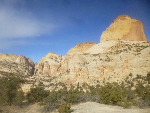 "Golden Throne and ""Golden Throne Canyon"", Capitol Reef National Park, December 2014"