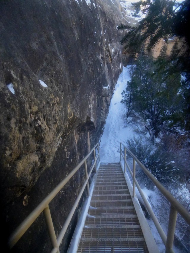 Staircase along the Sipapr Bridge Trail