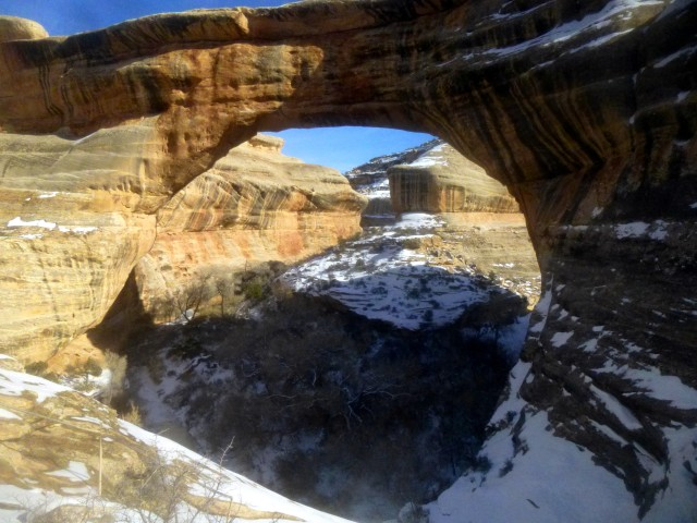 Sipapu Bridge, Natural Bridges Loop Trail, Natural Bridges National Monument, January 2015