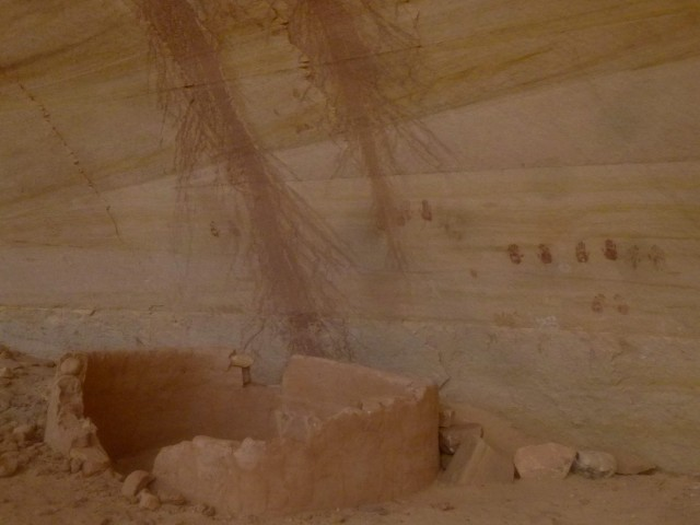 Anasazi ruin and pictographs, Kachina Bridge