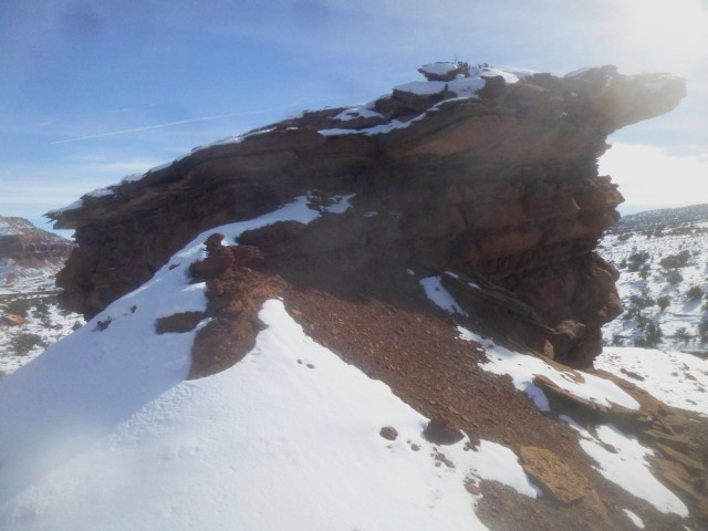 Point 6,230' from the ridge access point