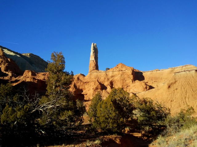 Sedimentary pipe - one of two prominently displayed along the Nature Trail - in Kodachrome Basin State Park