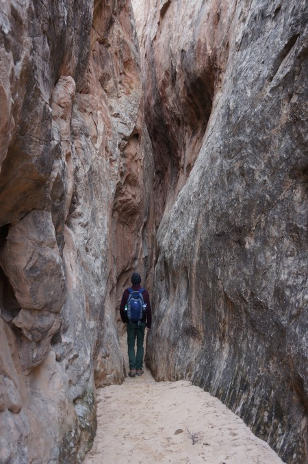 Entering the slot in Headquarters Canyon