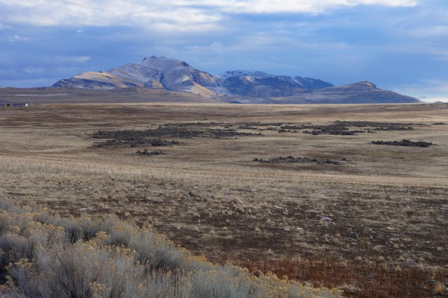 Frary Peak in the distance, Antelope Island State Park