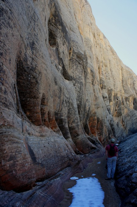 Terrific, fluted cliffs at the entrance to the Pleasant Creek slot