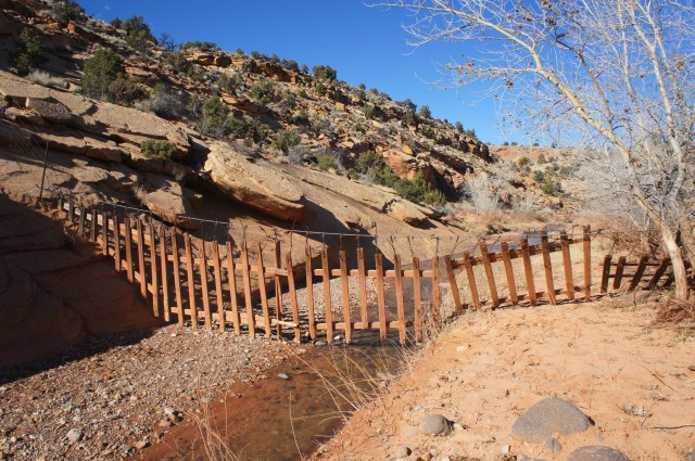End of the road: Capitol Reef's east park boundary in Pleasant Creek