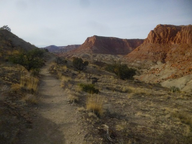 Heading back toward the trailhead, Chimney Rock Trail, Capitol Reef National Park