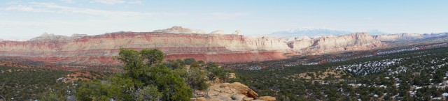 Panorama from the Old Wagon Trail viewpoint, Capitol Reef National Park
