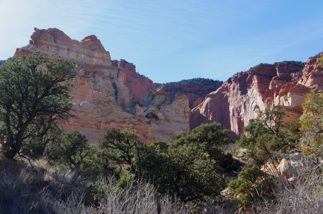 Double arch, as seen from the access point to the main Red Canyon drainage