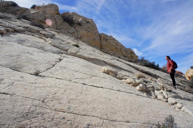 Slickrock traverse beyond the first saddle