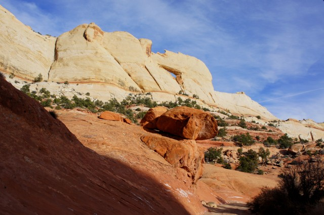 Peekaboo Arch, Upper Muley Twist Canyon, Capitol Reef National Park