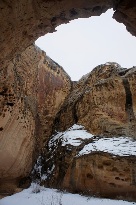"Dryfall at end of ""Party Canyon,"" Capitol Reef National Park"