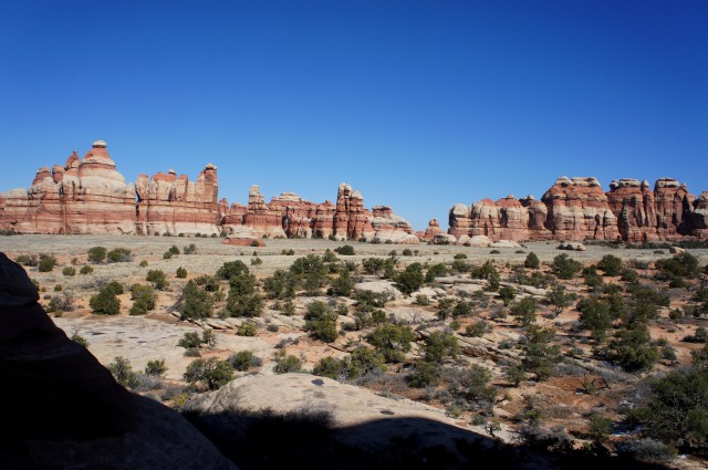 Chesler Park from the viewpoint on the Joint Trail, Needles District, Canyonlands National Park