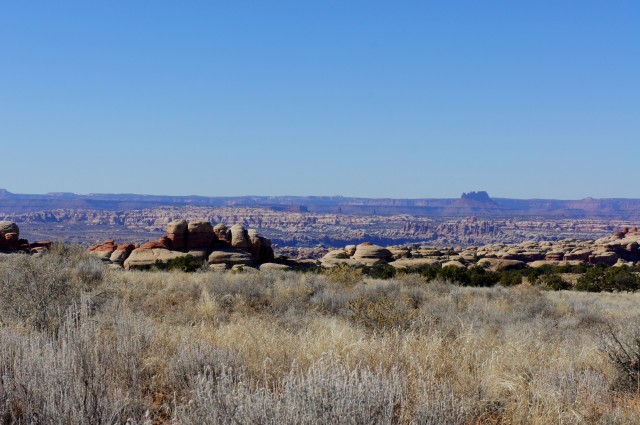 View of The Grabens, The Maze, and Junction Butte in the Island of the Sky District