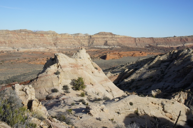 View southeast across Strike Valley from the Post Cut-off route, Capitol Reef National Park