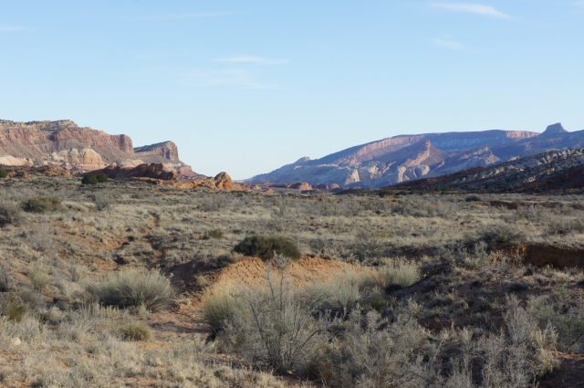 View south from near the Post Corral, Capitol Reef National Park