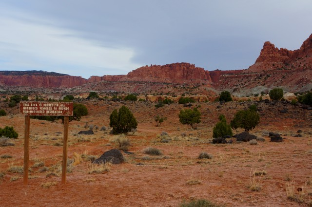 Holt Draw Trailhead, marking the start of the challenging hike to Upper Spring Canyon