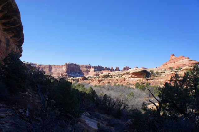 View of the Needles from Big Spring Canyon Trail, Canyonlands National Park
