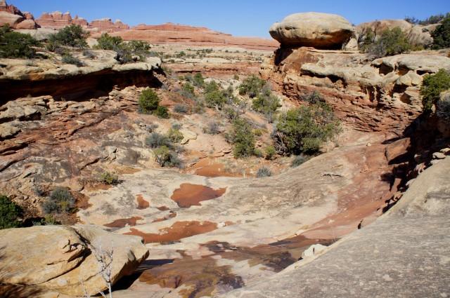 Bowl-shaped ravine in Big Spring Canyon