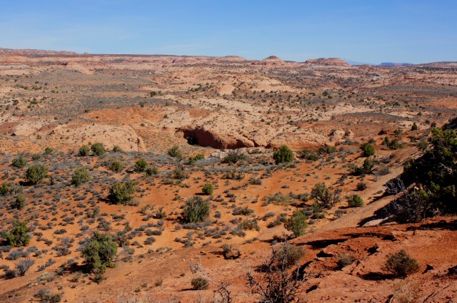 View of Dry Fork of Coyote Gulch from the Dry Fork Trailhead, Grand Staircase-Escalante National Monument
