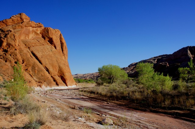 First crossing of Halls Creek in Grand Gulch