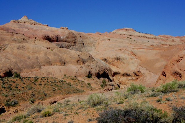 Southern entrance to Halls Creek Narrows from the Halls Divide route, Capitol Reef National Park