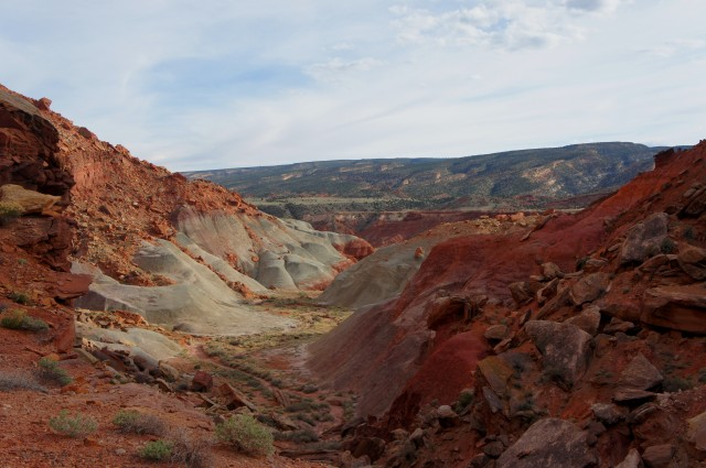 View from the top of the bypass route, The Castle Trail, Capitol Reef National Park