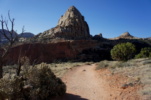 Pectol's Pyramid (6,207') from the Hickman Bridge Trail, Capitol Reef National Park