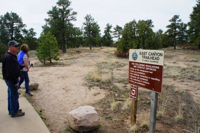 Start of the East Canyon Trail, Castlewood Canyon State Park