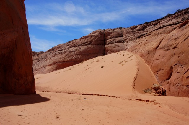 Massive sand dune in Brimstone Gulch
