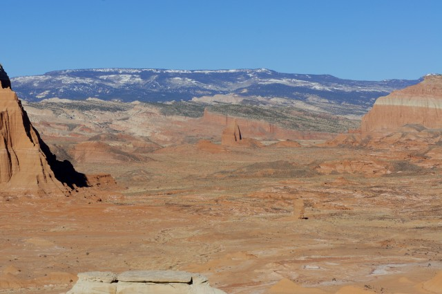 Temple Rock in the distance from Lower South Desert Overlook
