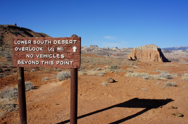 Lower South Desert Overlook Trail, Capitol Reef National Park, March 2015