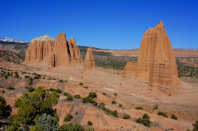View of the Cathedrals from the Cathedrals Trail, Capitol Reef National Park