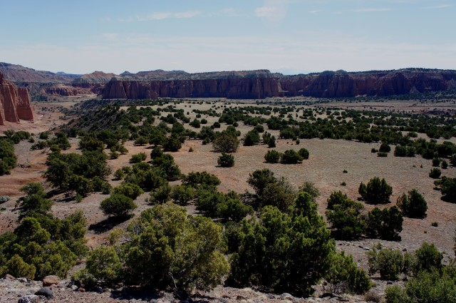 Looking southeast across Upper Cathedral Valley