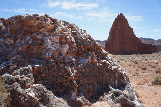 Glass Mountain and the Temple of the Sun, Lower Cathedral Valley, Capitol Reef National Park, March 2015