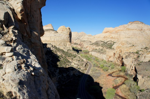 Overlooking Highway 24, Capitol Reef National Park, March 2015