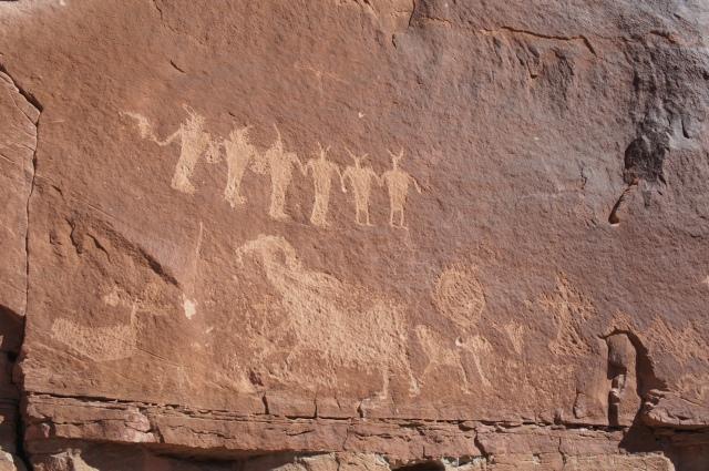 Additional petroglyphs near the dinosaur tracksite