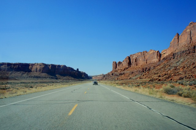 Highway 313 en route to Island in the Sky from Moab