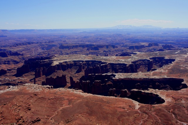 View of Monument Basin from Grand View Point, at the end of the road in Island in the Sky, Canyonlands National Park