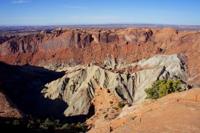 View of Upheaval Dome from the first overlook
