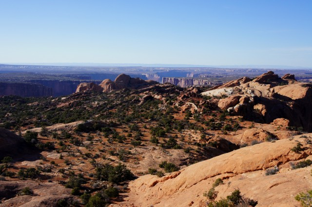 Beautiful landscape along the Upheaval Dome Trail