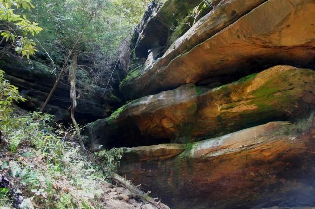 """""""Rock House"""" overhang, along the Rock Bridge Trail"""