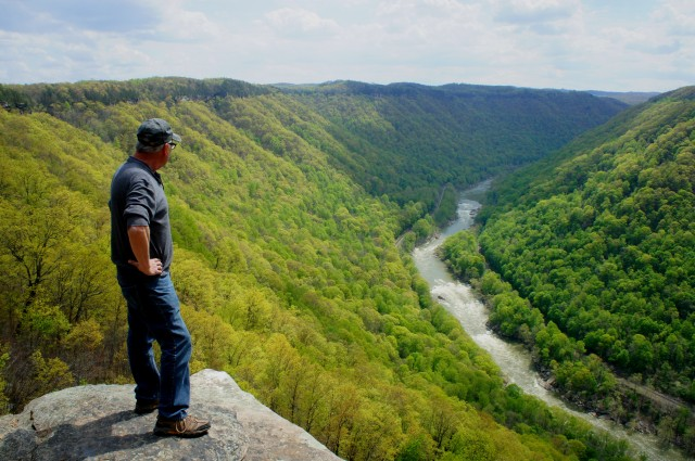 Endless Wall Trail, New River Gorge National Scenic River, April 2015
