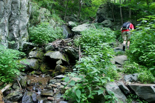 Little Devils Stairs, Shenandoah National Park, July 2015