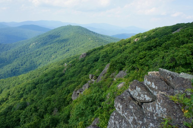 View of Marys Rock from The Pinnacle, along the Appalachian Trail, Shenandoah National Park
