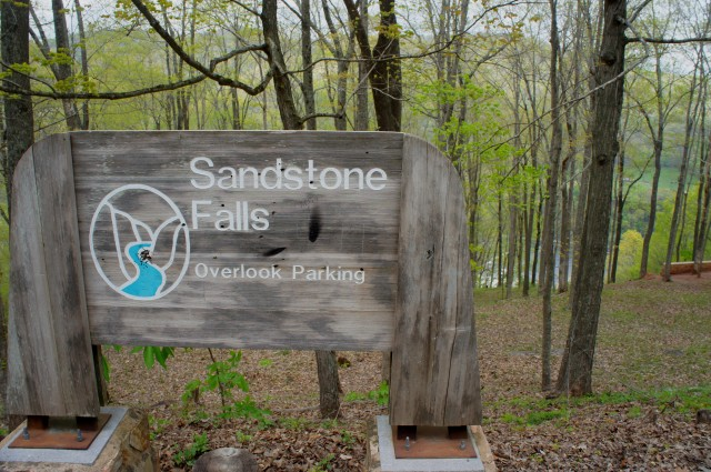 Sandstone Falls parking area
