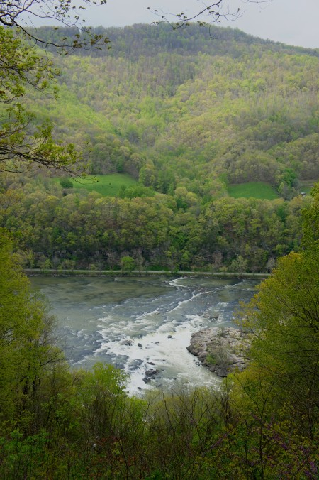 View from Sandstone Falls Overlook