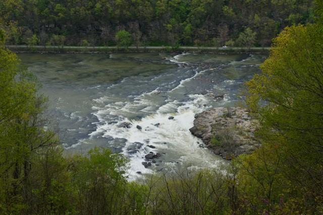 Sandstone Falls Overlook, New River Gorge National Scenic River, April 2015