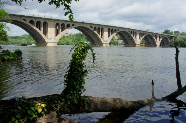 Key Bridge from the Potomac Heritage Trail