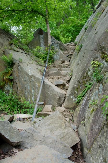 Strenuous climb beyond Gulf Branch, Potomac Heritage Trail